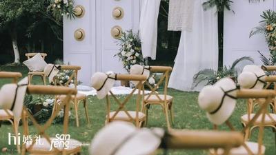 一场简洁的绿色户外婚礼,法式复古的高级