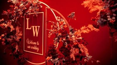 勃艮第红的性感婚礼,极致温柔和尊贵