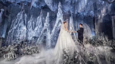 浅蓝色的天空之城,哥特风密林婚礼