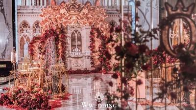 一场激情四溢的欧式婚礼,让人沉浸在复古奢华中