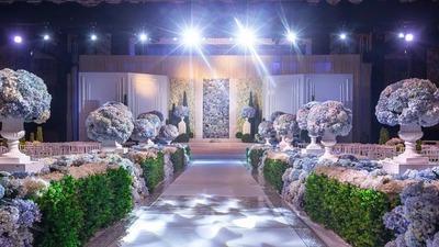 极致梦幻的紫色婚礼,一个纯净典雅的梦幻花园