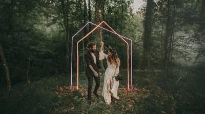 除鲜花外,这些元素也可以布置婚礼