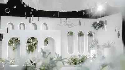 白绿色韩式婚礼,简单浪漫的唯美感