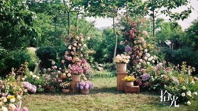 自然系清新绿户外婚礼,属于夏日的活泼感