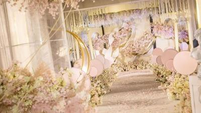 公主梦一定是粉色的,一场粉色的室内婚礼