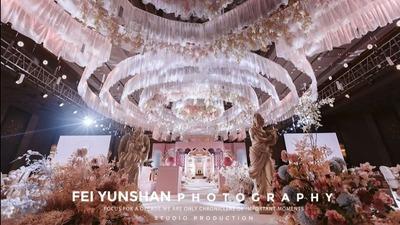 源于布达佩斯的婚礼灵感,一场粉蓝色梦幻超现实婚礼