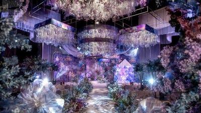 紫色+蓝色系婚礼
