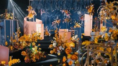 墨蓝色山茶花婚礼,漫长时光中的无限温柔