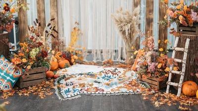 一场秋意满满的婚礼,暖色调的深秋丰收的硕果