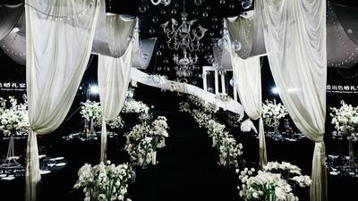 化繁为简,永远的白绿色经典韩式婚礼