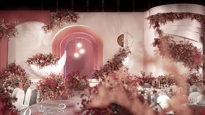 橡皮粉色系婚礼