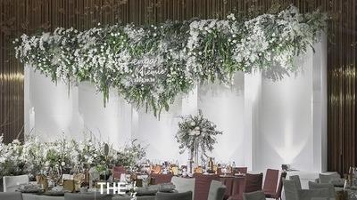 白绿色小清新风婚礼