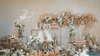 自带女神气场的香槟色婚礼,不失低调优雅的高贵质感