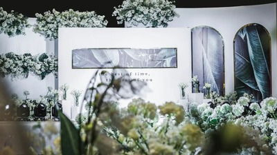 简洁自然的白绿色婚礼,化繁为简的北欧风设计