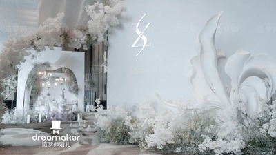 一场细致的韩系婚礼,唯美柔和的白色极简风