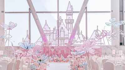 粉蓝色童话婚礼