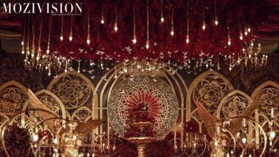 红金色欧式贵族婚礼,一场华丽优雅的婚礼