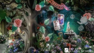 爱丽丝梦游仙境童话宝宝宴,一起踏入魔幻森林的仙境