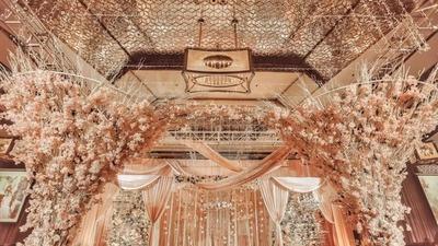 简约清甜的橙色婚礼,新娘从容又大方