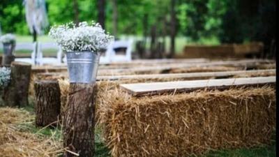 夏秋草坪婚礼,必备的10个布置小物