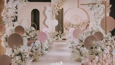 香槟粉色系婚礼