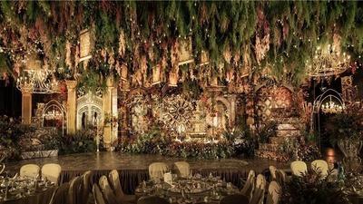 洛可可纤美风宫廷婚礼,绿色和金色的古典森林