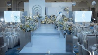 蓝色+黄色系婚礼