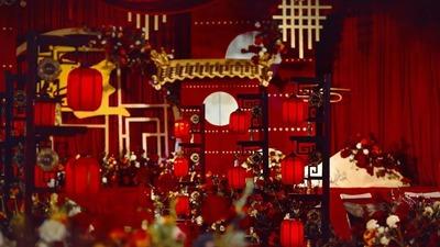 一场红色新中式婚礼,古典大气与简繁适宜的平衡