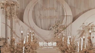 一眼就被征服的高级感,温柔的香槟色梦幻婚礼