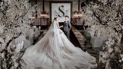 极简风黑白色系婚礼
