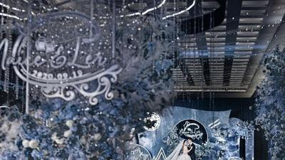 置身宇宙星河中,俯瞰大地万物的终极蓝色婚礼