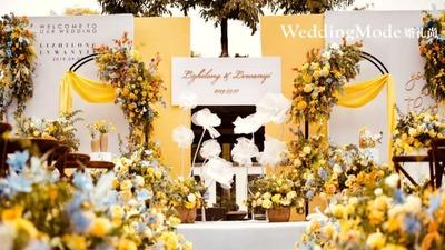 属于秋天的奇特橘色,一场户外的木质婚礼