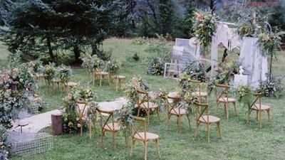法式田园风草坪婚礼