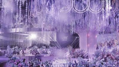 蓝紫色极致梦幻的百万婚礼