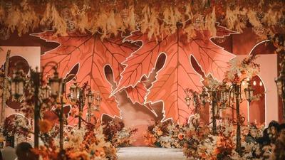 温暖精致又充满仪式感的秋日婚礼