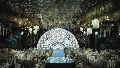 一场别具一格的室内森系婚礼