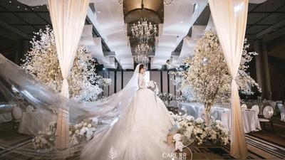干净纯粹的白色韩式婚礼