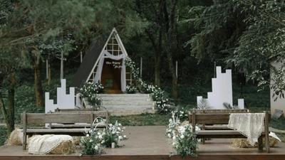 白绿色系的田园风婚礼