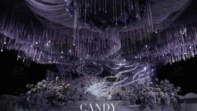 一场蓝紫色的梦幻星空婚礼
