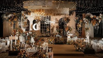 焦糖色的美式田园风婚礼