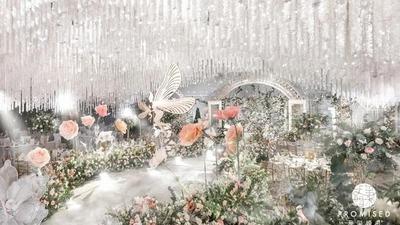 清新自然的花园森系婚礼