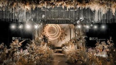 典雅而温暖的香槟色系婚礼