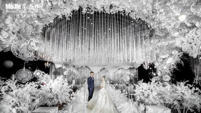璀璨夺目的白色水晶婚礼
