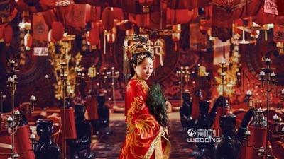 红黑色系的汉制中式婚礼