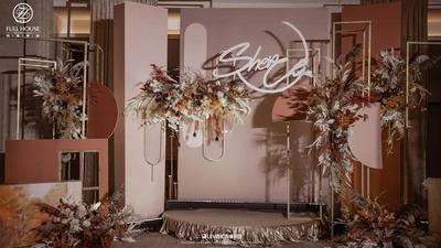 珊瑚橙与玫瑰棕色的结合,简约时尚的泰式婚礼