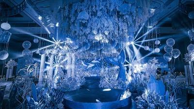 如梦境般的蓝色海洋主题婚礼