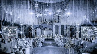 灰蓝色系的浪漫星空主题婚礼