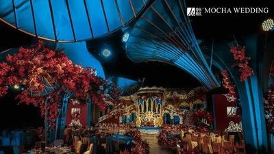 华丽复古风的巴洛克城堡婚礼
