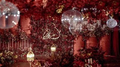 红金色系的摩登现代风婚礼
