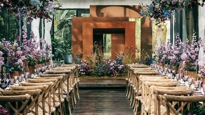 紫色法式风情婚礼